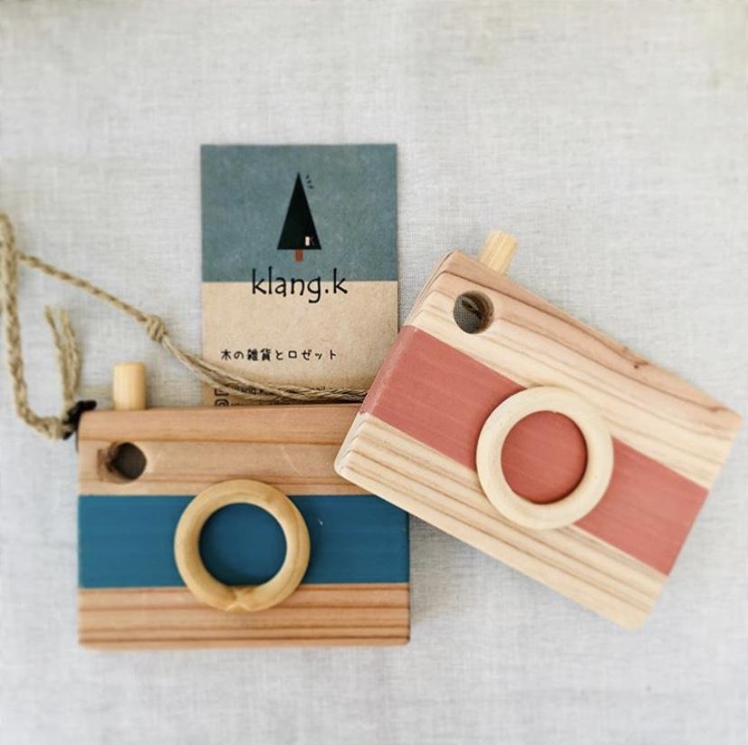 木で作るおもちゃカメラのワークショップ